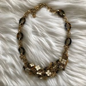 Ann Taylor Tortoiseshell Daisy Statement Necklace